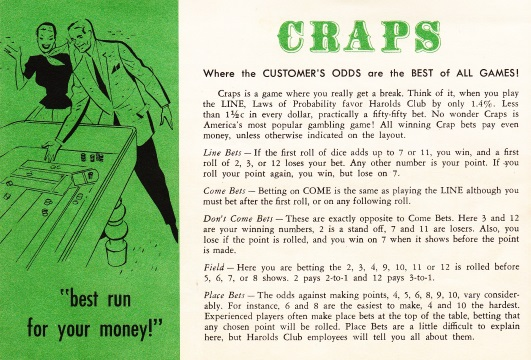 """Gambling Fool's"" Three-Day Craps Game"