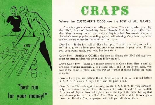 """Gambling Fool's"" Three-Day Craps Game"