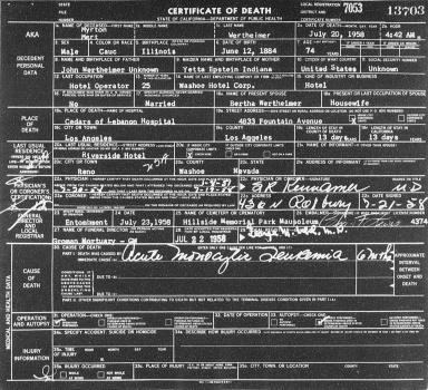 Investigation of the Death of Mobster-Gambler Mert Wertheimer